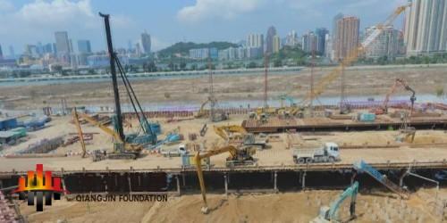 澳门新城A区B4基坑支护钢支撑项目