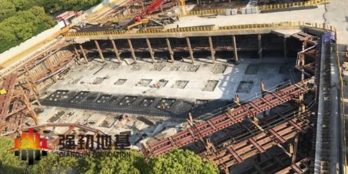 SMW工法、预应力鱼腹式钢支撑:国航上海浦东工作区倒班用房项目