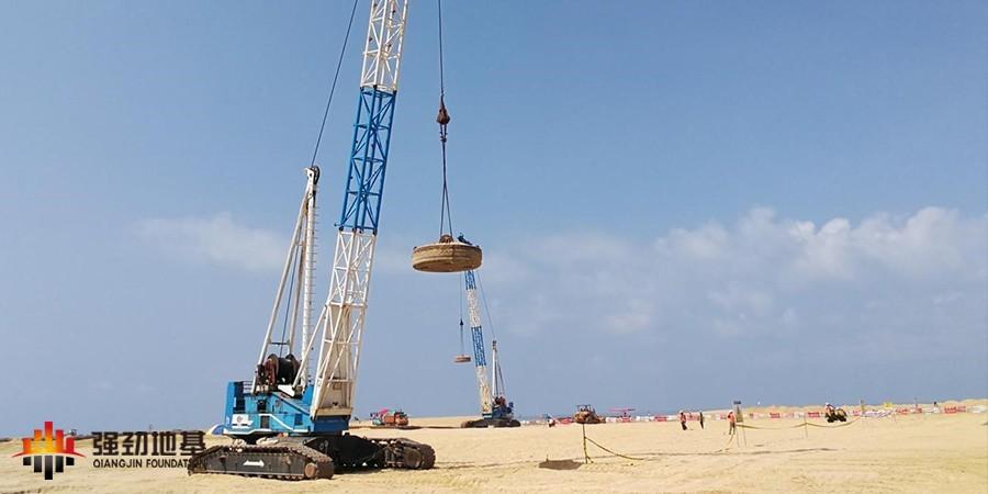 国外项目、高能量级强夯:科伦坡港口城