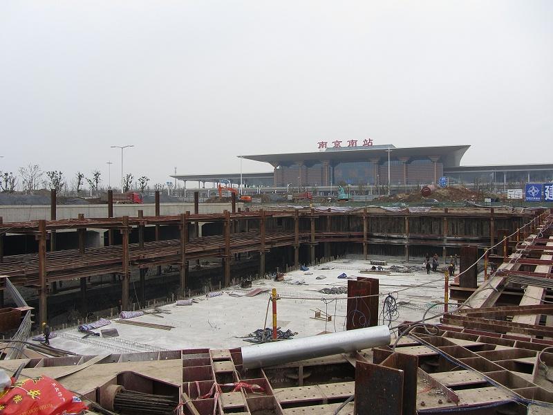 南京高铁南站基坑