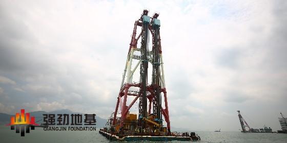 深层水泥搅拌船-上海强劲地基海上DCM船