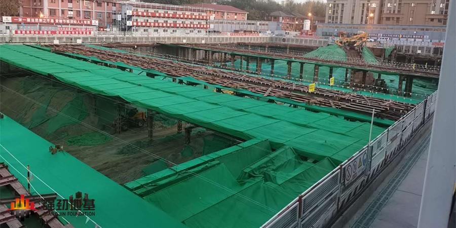 预应力鱼腹式钢支撑:北京百万庄项目