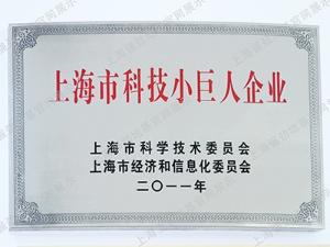 上海市科技小巨人企业证书