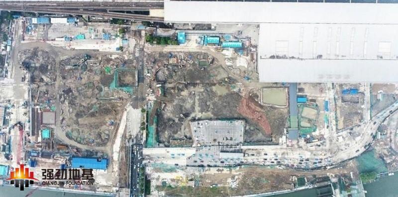 项目施工场地俯瞰图