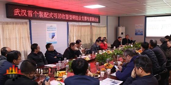 装配式全回收型钢组合支撑技术应用 专家研讨会于武汉成功举行